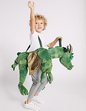 Kids' Dragon Ride-on Dress Up, GREEN MIX, catlanding