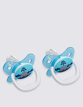 Twin Pack Orthodontic Soother 0-6 Months