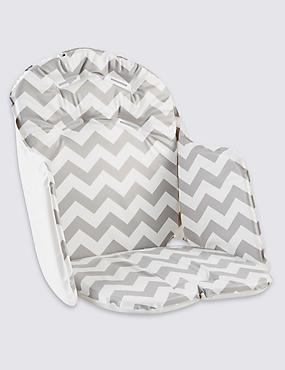 Chevron High Chair Cushion