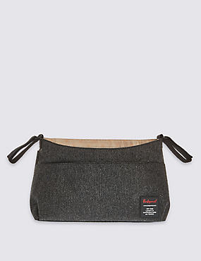 Stroller Organiser Grey Tweed Bag