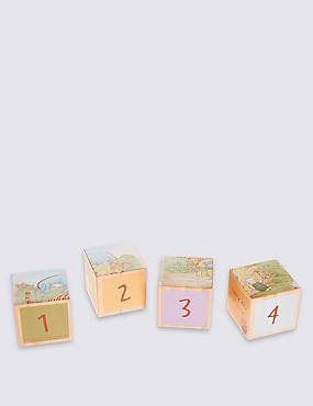 Classic Winnie Wood Set of 4 Blocks