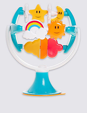 Rainbows and Stars Highchair Toy