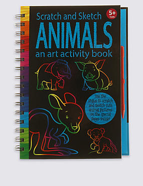 Scratch & Sketch Animals Activity Book