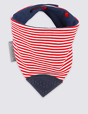 Striped Chewy Dribble Bib
