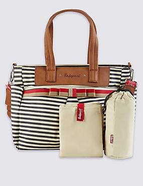 Cara Striped Bow Bag