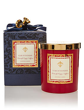 Midnight Poppy & Saffron Scented Candle