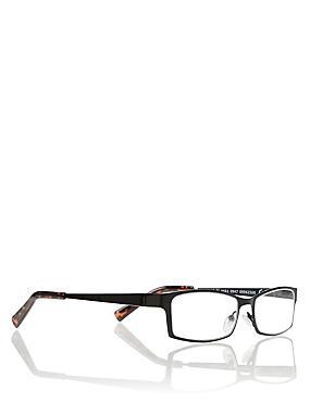 Flat Sheet Metal Reading Glasses, BLACK MIX, catlanding