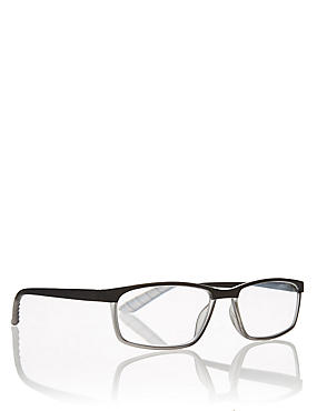 Rectangle Black Reading Glasses