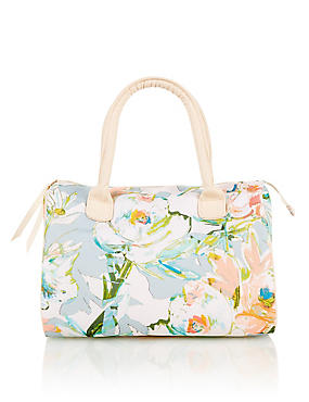Water Colour Floral Wash Bag, , catlanding