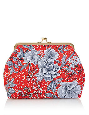 Water Colour Floral Cosmetic Purse, , catlanding