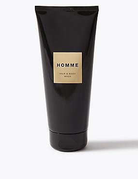 Homme Hair & Body Wash 200ml, , catlanding