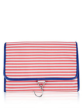 Striped Hanging Wash Bag