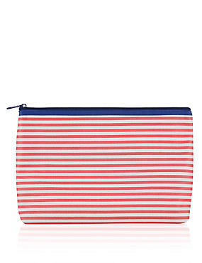 Striped Wash Bag