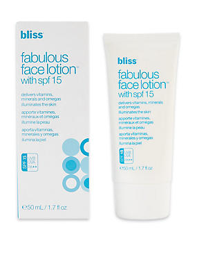 Fabulous Face Lotion SPF15 50ml, , catlanding