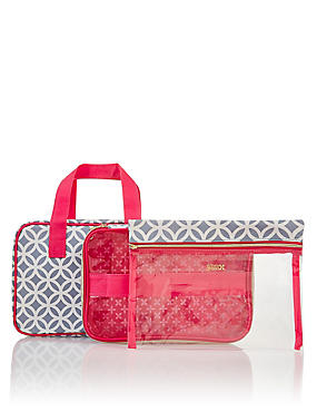 Grace Smoke Geometric Folding Beauty Bag