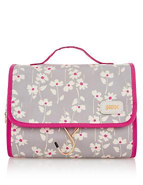 Emma Smoke Floral Hanging Beauty Bag, , catlanding