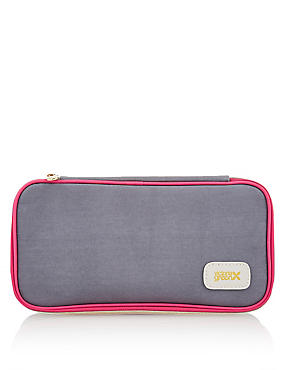 Lucy Smoke Plain Makeup Case, , catlanding