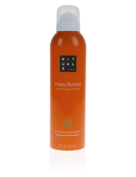 Happy Buddha Sweet Orange & Cedar Shower Gel 200ml