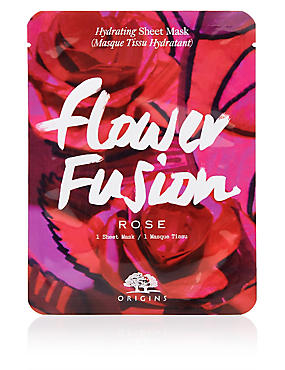 Flower Fusion™ Hydrating Sheet Mask - Rose Flower, , catlanding