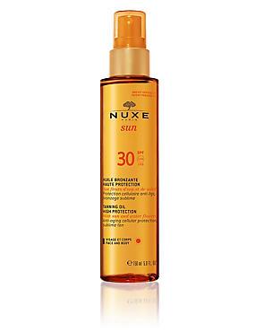 Tanning Oil for Face & Body SPF30 150ml, , catlanding