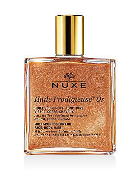Huile Prodigieuse® Multipurpose Golden Shimmer Oil 50ml, , catlanding