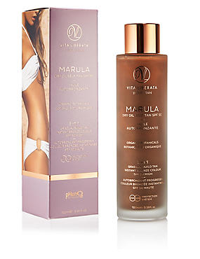 Marula Dry Oil Self Tan SPF50 100ml, , catlanding