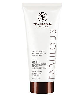 Fabulous Self Tanning Gradual Lotion with Marula Oil 200ml, , catlanding
