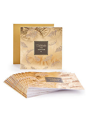 Golden Fern Christmas Charity Cards Pack of 20, , catlanding