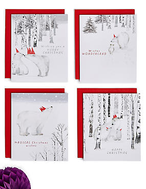 Polar Bear Christmas Charity Cards Pack of 20, , catlanding