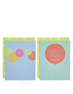 Pack of 8 Balloon Thank You Cards , , catlanding