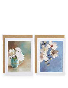 Pack of 8 Floral Blank Cards , , catlanding