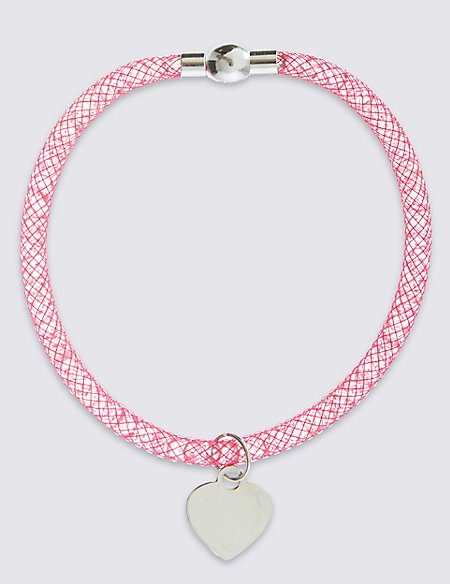Breast Cancer Now Heart Charm Bracelet