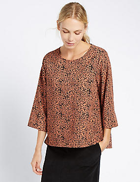 Loose Fit Round Neck Blouse