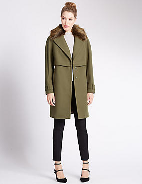 Long Sleeve Collared Neck Coat