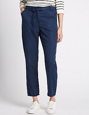 Slim Leg Cargo Trousers