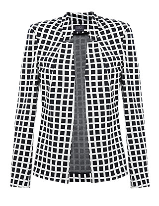 Notch Collar Checked Jacket Clothing