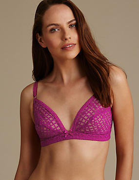 Trellis Lace Non Wired Non Padded Bra A-C