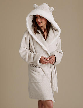 Bear Hooded Gown