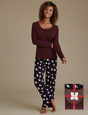 Pure Cotton Reindeer Print Pyjamas