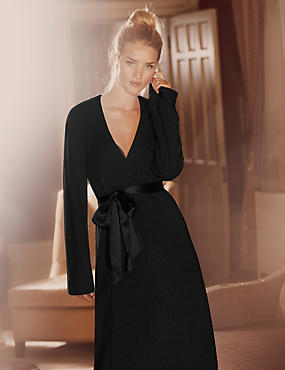 Luxurious Pure Cashmere Long Dressing Gown