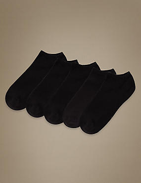 5 Pair Pack Sports Trainer Liner Socks