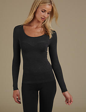 Heatgen™ Sparkle Effect Long Sleeve Thermal Top