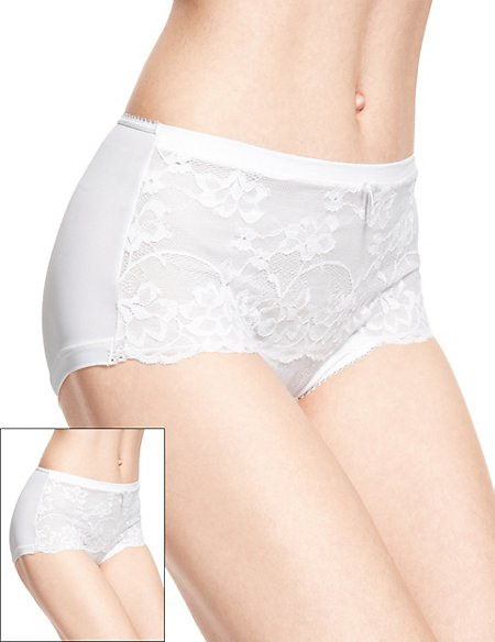 2 Pack High Rise Jasmine Lace Shorts