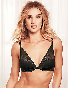 Beau Silk & Lace High Apex Plunge Bra A-E