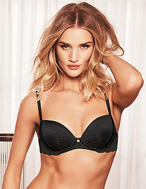 Silk & Lace Balcony Bra A-E