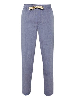 Pure Cotton Chambray Pyjama Bottoms Clothing