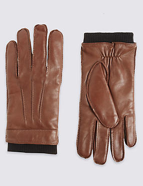 Leather Gloves with Thinsulate™, TAN, catlanding