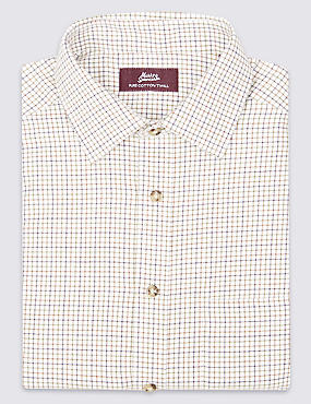 Pure Cotton Classic Tattersall Checked Shirt