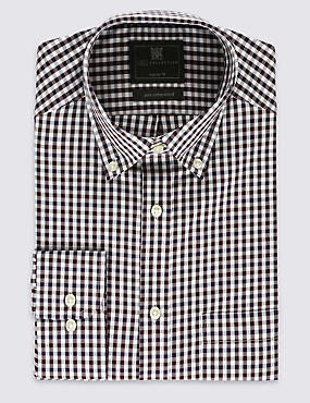 Pure cotton Easy to Iron Checked Shirt