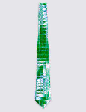Made in Italy Luxury Pure Silk Printed Tie